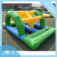 Water floating sea park equipment inflatable game with 0.9mm pvc material for sale