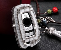 Gift Luxury Diamond Bling Key Case Holder Wallet For BMW X3 X4 730 750 F30 F10 E90 1 2 3 4 5 6 7 Series GT M1 M2 M3