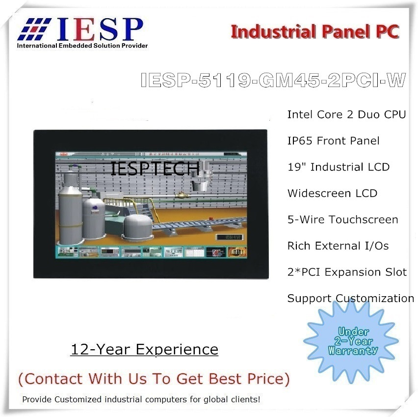 PC panel layar lebar industri 19