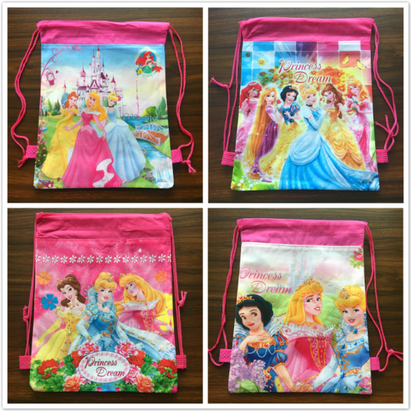 20pcs 36*25cm Princess cartoon non-woven fabrics drawstring backpack,schoolbag,shopping bag20pcs 36*25cm Princess cartoon non-woven fabrics drawstring backpack,schoolbag,shopping bag