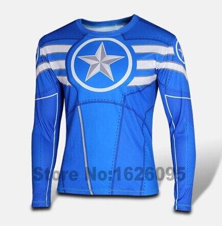 Hot sales 2016 New Marvel Comics Super Heroes Iron Man T-shirt Tony Stark High Quality Long-sleeve Costume T Shirt