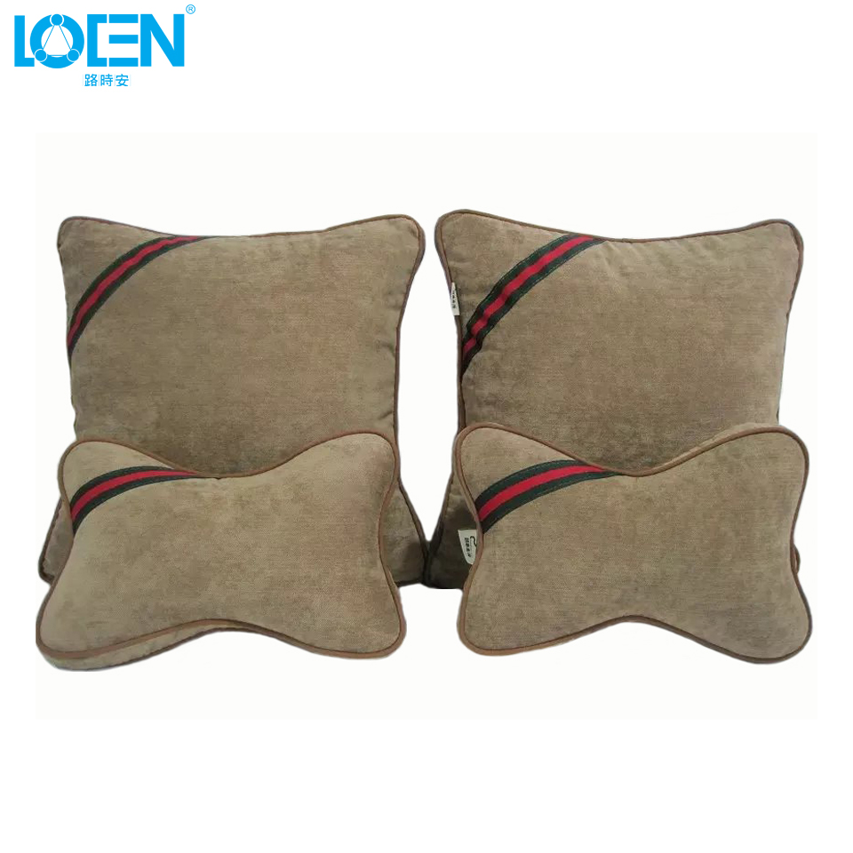 1set High quality memory foam Car seat back lumbar supports cushion and neck headrest pillow Universal car-styling for home auto high quality car seat covers for lifan x60 x50 320 330 520 620 630 720 black red beige gray purple car accessories auto styling