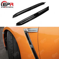 For Nissan R35 GTR OEM Front Fender Vent Carbon Fiber Body Kit Car Styling For Skyline R35 Fender GTR Vents CF Car Cover