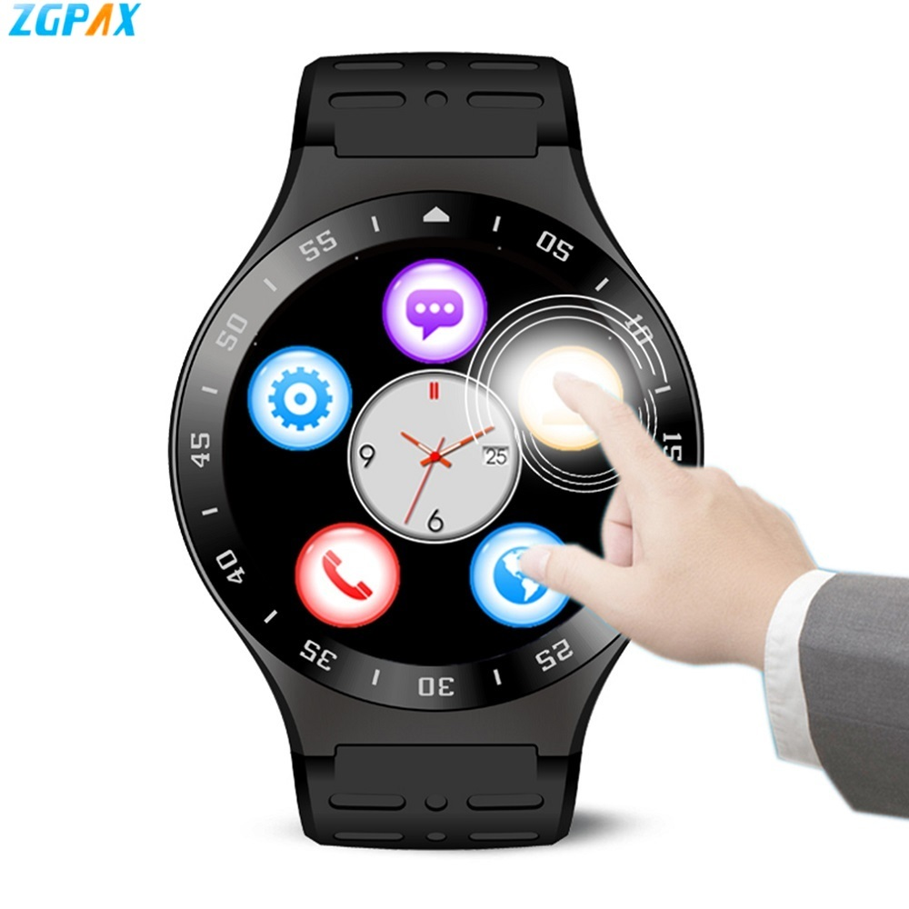 ZGPAX S99A Android 5.1 Smart Watch MTK6580 Quad Core 8GB ROM Bluetooth Heart Rate Monitor WiFi Smartwatch Phone For iOS Xiaomi android 5 1 p9 smartwatch gsm 3g quad core 8gb rom smart watch with camera gps wifi bluetooth v4 0 heart rate monitor pk s99a k8