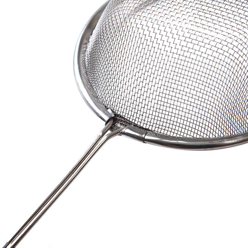 Warna Perak Stainless Steel Rajut Halus Benang Minyak Kawat Skimmer Filter Saringan Tepung Saringan Saringan Dapur Alat Memasak Diskon