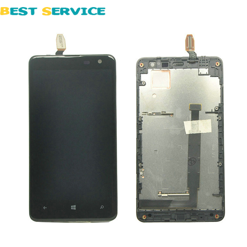 ФОТО For Nokia Lumia 625 LCD Display + Touch Screen Digitizer Assembly with Frame + Tools Free Shipping