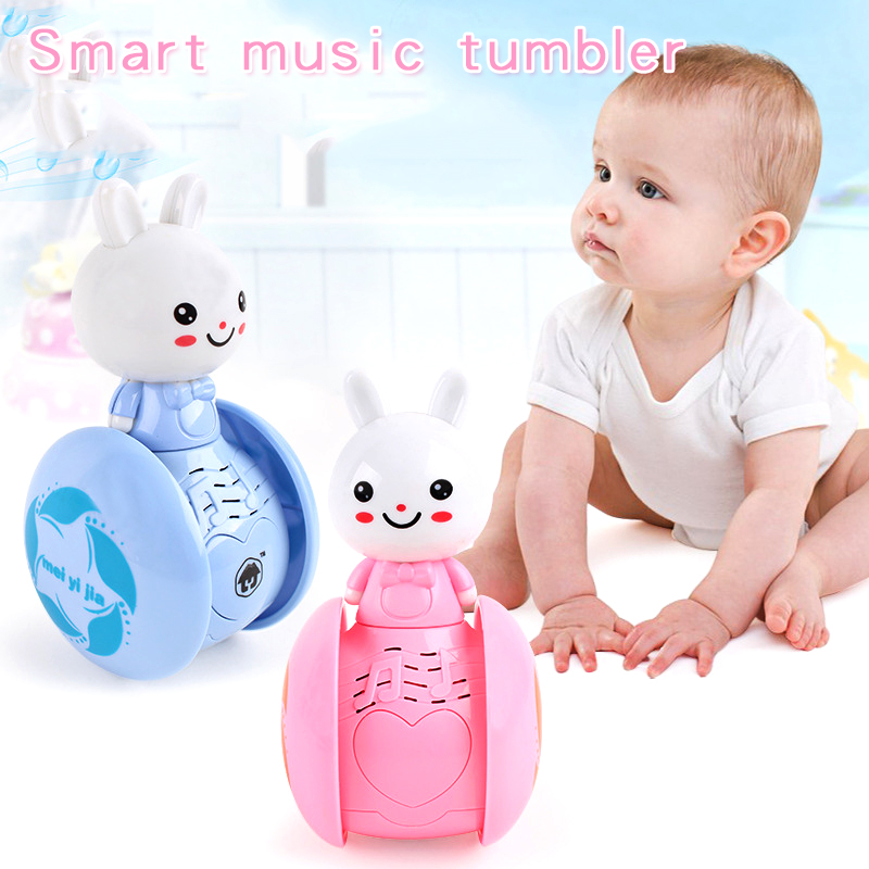 Puzzle Early Educational Toys Classic Induction Interaction Music Electric Model Toy Smart Robot Cute Rabbit Tumbler Kids Toys