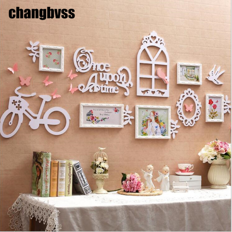 DIY Romantic Home Wall Artworks Frames Garden Style 5Pcs Photo ...