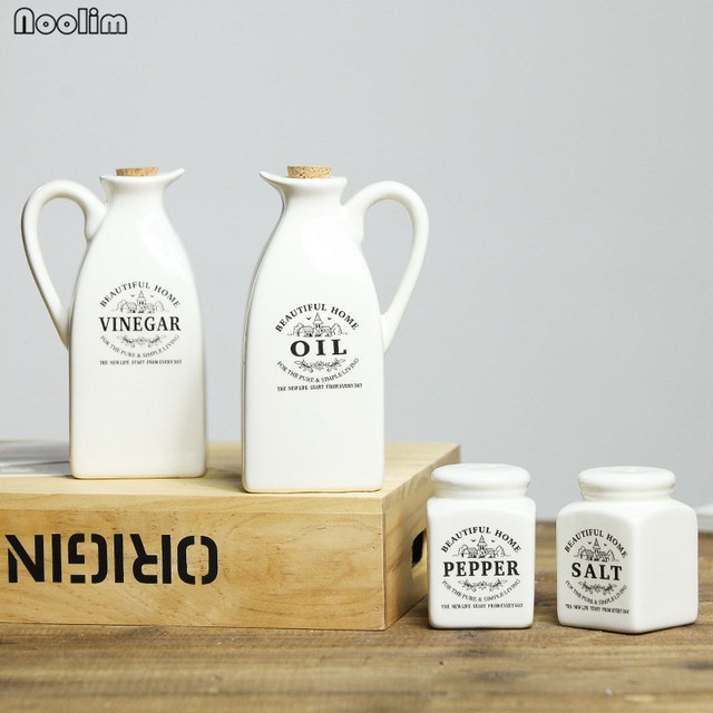 kitchen jars photos of kitchens noolim 1set japanese style ceramic seasoning bottle vintage vinegar oil food container spices storage box