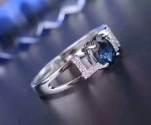 все цены на 925 sterling silver Sapphire rings fashion gift for women jewelry love rings open fine jewelry онлайн