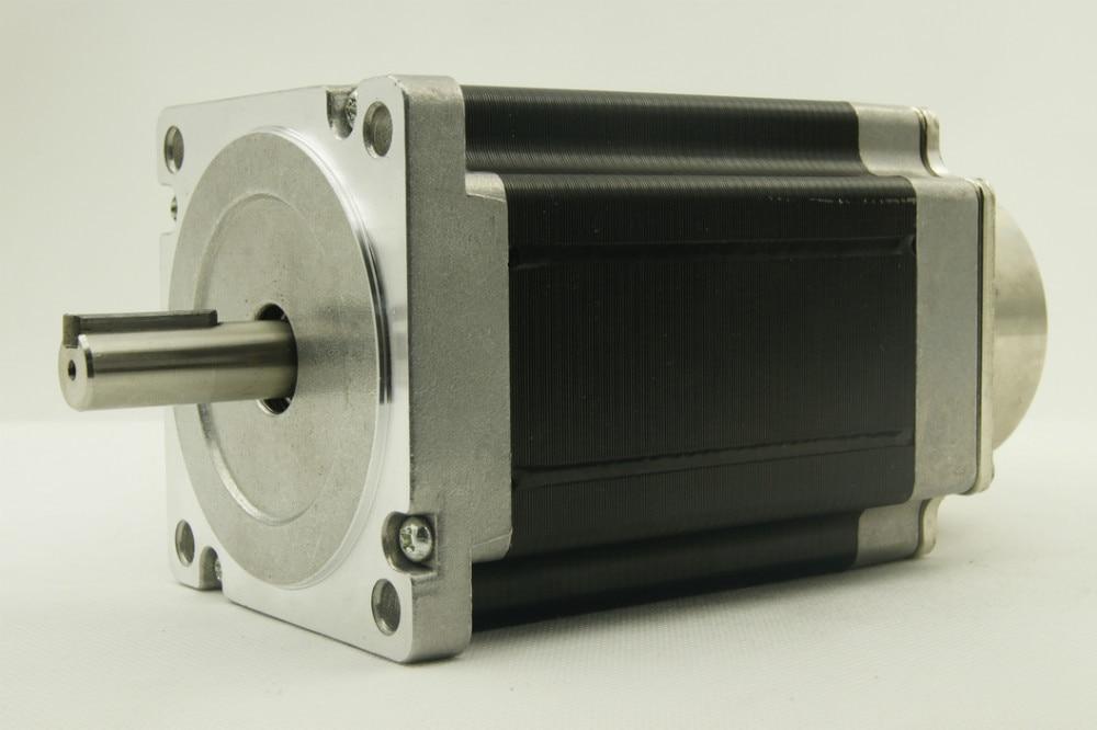 цена на NEMA34 size 86mm Stepper motors with brake J86HB118-06(DC24V) motor length 118mm torque 8.5N.m(1215oz-in)