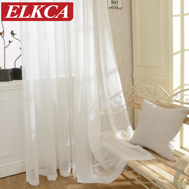 buy modern striped tulle curtains for. Black Bedroom Furniture Sets. Home Design Ideas