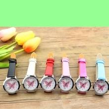 2019 fashion brand children cute colorful butterfly cartoon luminous watch