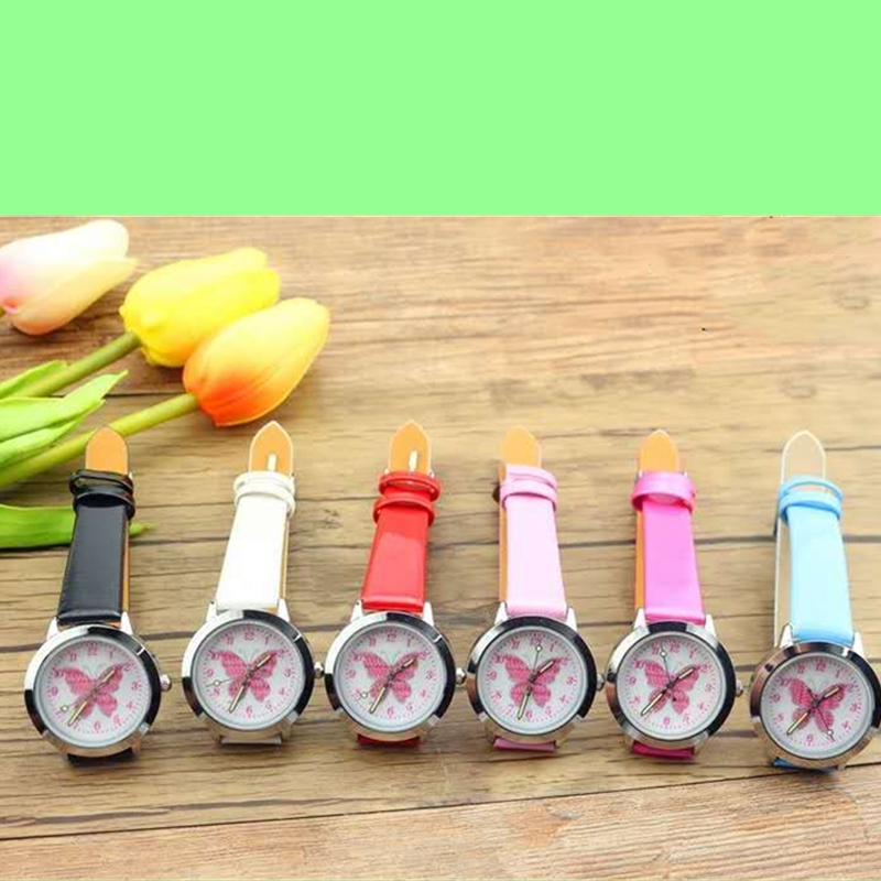 2019 Fashion Brand Children Cute Colorful Butterfly Cartoon Luminous Watch Boy Quartz Watch Girl Clock Children's Day Gift
