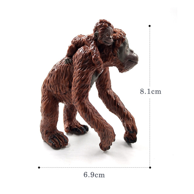 Sloth Orangutan Chimpanzee gibbon Monkey Animal model figurine home decor miniature fairy garden decoration accessories statue 2