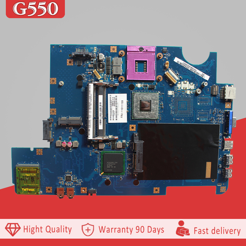YTAI LA-5082P G550 motherboard for Lenovo G550 KIWA7 LA-5082P 11011159 REV:1.0 GM45 Laptop Motherboard 100% tested for lenovo g550 original laptop motherboard la 5082p n10m gs2 s a2 video card gm45 fully tested work perfect