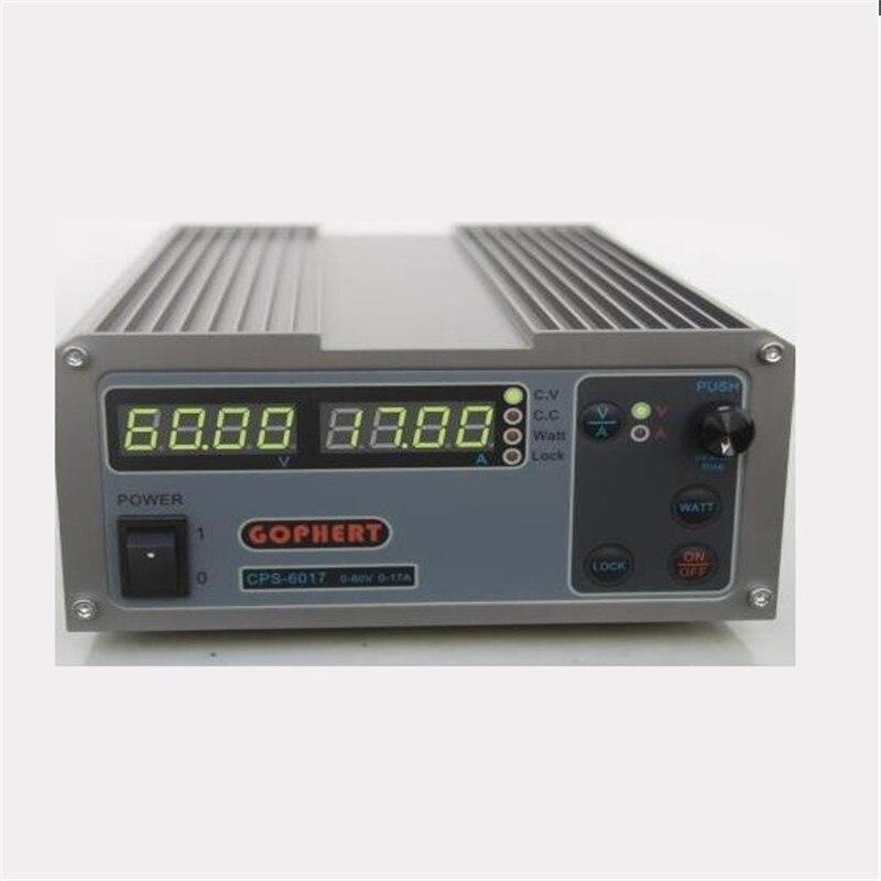 Высокая Мощность цифровой регулировкой Питание CPS-6017 1000 Вт 0-60 В/0-17A лаборатории Питание