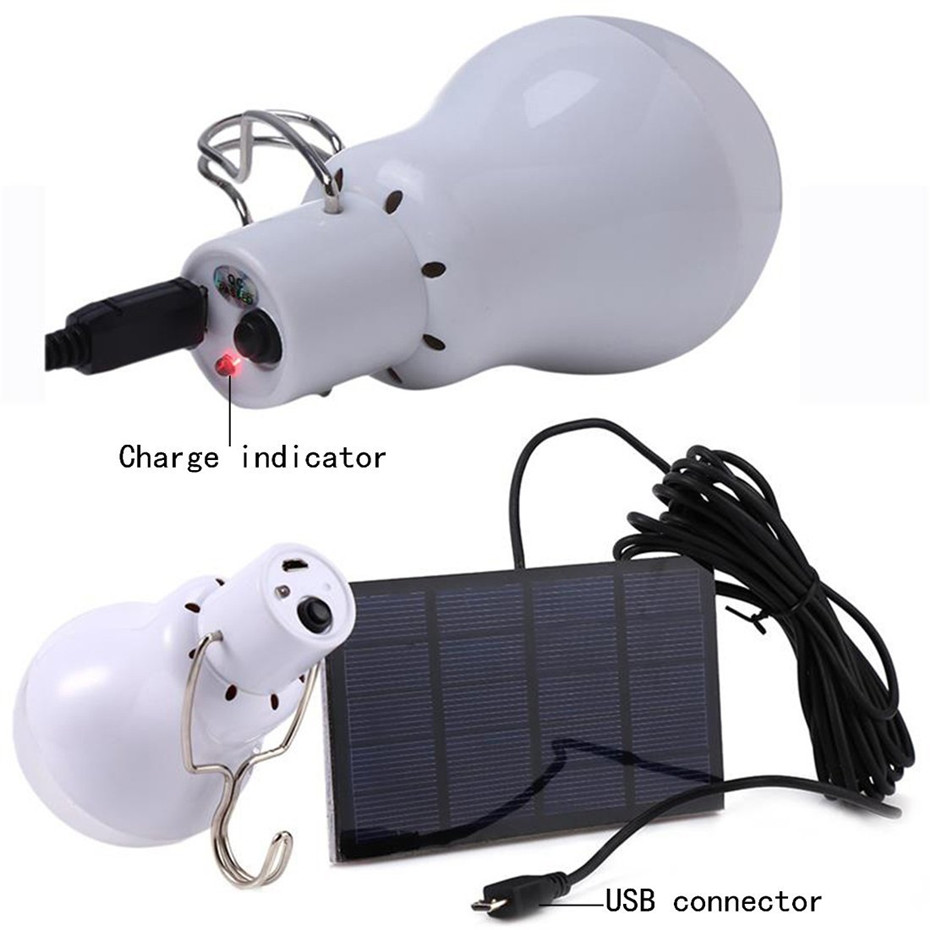 Lâmpadas Solares luz ao ar livre lâmpada Lumous : 130lm