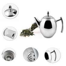 1000 ML/1500 ML Edelstahl Langlebig Teekanne Kaffee Tee Splitter Kaltem Wasser Topf Wasserkocher Mit Sieb Home Küche helfer
