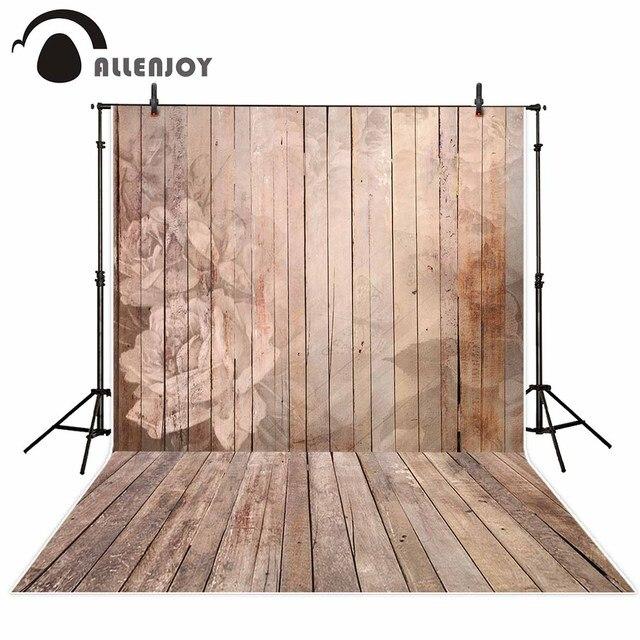 allenjoy photographique fond vintage plancher de bois fleur de mariage toile de fond photocall. Black Bedroom Furniture Sets. Home Design Ideas