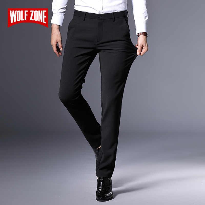 4d32caba31d0 Autumn Winter Black Casual Pants Men Fashion Slim Fit Mens Brand Classic  Man Pants New Male
