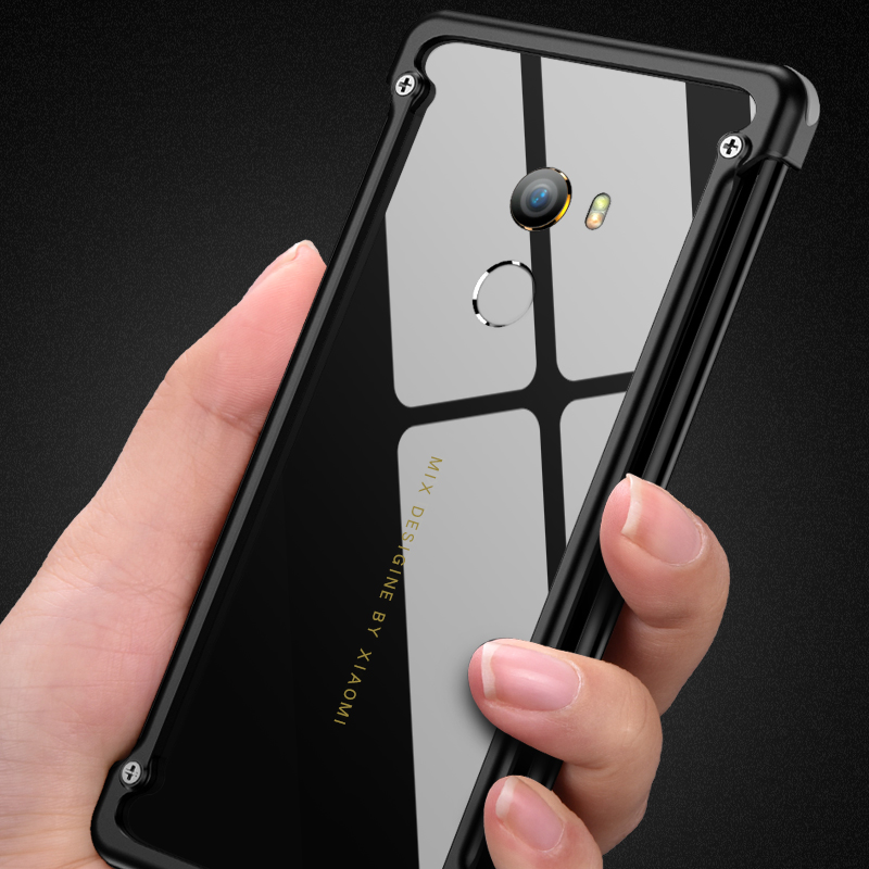 Image 5 - OATSBASF Airbag Bumper Metal Case For Xiaomi Mi Mix 2 Case Personality Metal Cover Case for Xiaomi Mi Mix2 360 Degree Case-in Phone Bumpers from Cellphones & Telecommunications