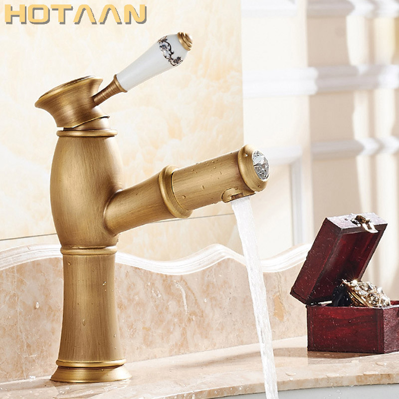 Hot selling,Free shippingPull Out Basin Faucet Antique Brass Copper Basin Mixer Tap Kitchen Faucet Deck Mounted YT-5002Hot selling,Free shippingPull Out Basin Faucet Antique Brass Copper Basin Mixer Tap Kitchen Faucet Deck Mounted YT-5002