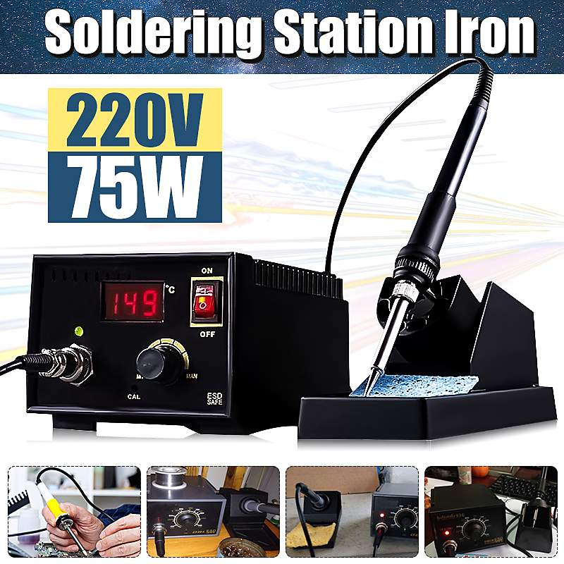 SMD Soldering Station Iron LCD Display Desoldering Rework Solder Soldering Iron Welding Repair Tools 110V-220V