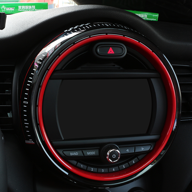 Купить с кэшбэком Replacement Display Frame Cover Sticker for BMW Mini Cooper F55 F56 Car Center Control Screen Accessories Frame Jcw Auto Covers