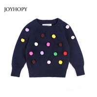 JOYHOPY Baby Girls Sweaters 2018 New Girl Long Sleeve Knitted Clothes Kids Spring Autumn Casual Sweater
