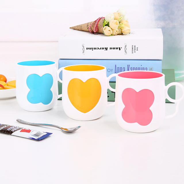 1pcs Hot Creative Plastic Toothbrush Cups Bathroom Set Accessories Handle Cup Drum Pp Drinking
