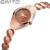 Senhora Da Forma de Tungstênio Pulseira de Aço Mulheres Relógio de Ouro Rosa de Prata de Quartzo Vestido Relógio de Pulso Relógio Feminino reloj mujer montre femme