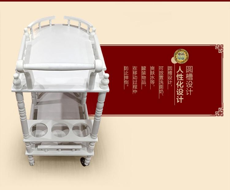 High-end beauty. Beauty wooden cart. Beauty cart. Solid wood - Furniture - Photo 2