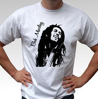 Bob Marley b&w white t shirt rasta reggae top mens and kids sizes 2019 fashion t shirt,100% cotton tee shirt,2019 hot tees