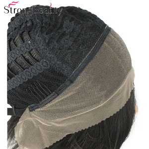 Image 5 - StrongBeauty Synthetic Lace Front Wig Men Hair Short Straight Wigs Natural Black Hair
