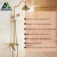 2-jahre Garantie Beste Qualität Badezimmer Dusche Wasserhahn Set Einhebel 3 Knob Griffe 8