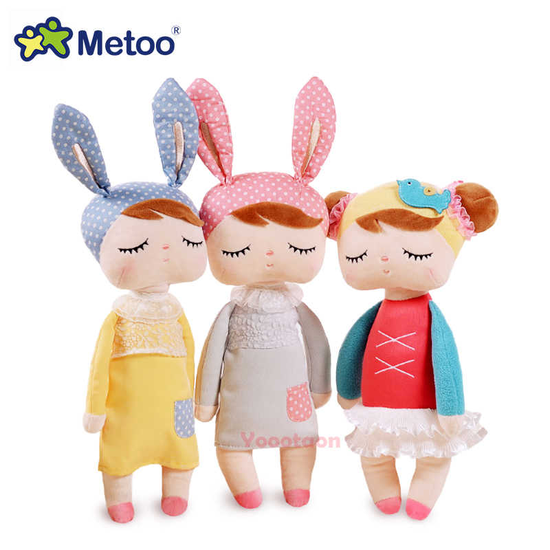 Metoo Angela plush dolls stuffed baby toy for children girl Lace Bunny Rabbit stuffed & plush animals baby kids toys gift