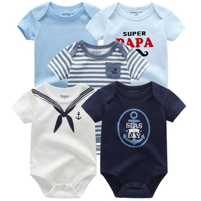 Kiddiezoom детские комбинезоны пижамы для маленьких девочек Дети Bebe Infantil одежда для новорожденных одежда из хлопка Одежда для маленьких мальчиков, Товары для детей - Цвет: baby boy romper5088