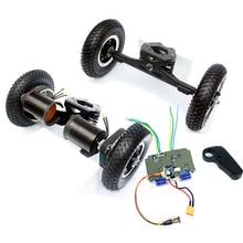 11 インチトラック電動スケートボードブラシレスモーター 8 インチwhleesオフロードスケートボードベルトドライブブリッジ 4 輪ロングボード