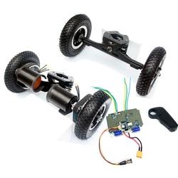 11 inch Truck Elektrische Skateboard Borstelloze Motor 8 inch Whlees Off Road Skateboard Riem Drive Brug 4 Wiel Lange Plank