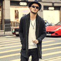 brand casual Mens autumn long sweater coat knit cardigan jacket coat Korean sweater warm Slim Fit Men Thick Cardigan Jacket Coat