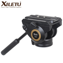 XILETU LS-5 Panoramic Photography Drag Hydraulic Fluid Tripod Head for Vedio Digital Camera Arca Swiss Tripod Gitzo Manfrotto xiletu ls 4 handgrip video photography fluid drag hydraulic tripod head and quick release plate for arca swiss manfrotto