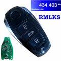Новый смарт-пульт дистанционного ключа Fob 3 кнопки KYDZ 434 МГц ID46 чип для Volkswagen Toua 2011-2014
