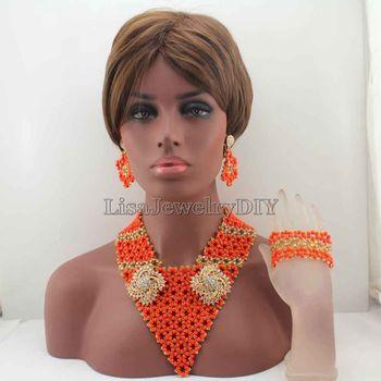African New Mix Costume Bridal Indian Jewelry Set Women Fashion Jewellery Trends Traditonal Wedding Beads Free Shipping HD8232