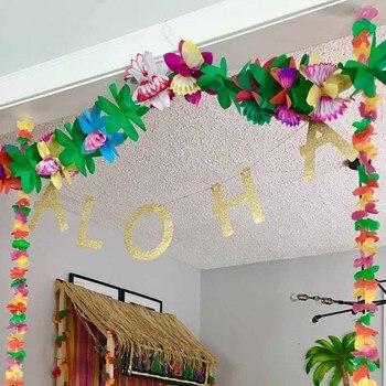 Flamingo Tejido Guirnalda De Flores Para Luau Jungla Tematica Fiesta