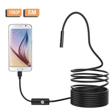 8mm Lens Micro_USB USB Endoscope Camera Hard Tube snake Inspection waterproof With 8 Adjustble LED 1/2/5/10M broscope HD 1080P 1 3mp 960p hd cmos ar0130 low light hd usb webcam industrial microscope endoscope telescope camera with 2 8 12mm cs mount lens