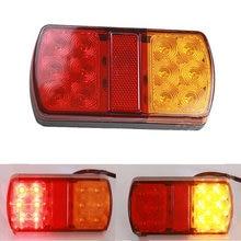 1 пара водонепроницаемых 24 светодиодных задних фонарей 12 В для прицепа грузовика Стоп задний фонарь автомобильный сигнальный фонарь предупреждающий индикатор противотуманная фара