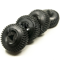 4pcs Crawler 100mm OD Rubber Tire With Sponge Insert For RC 1 10 Rock SCX10 D90