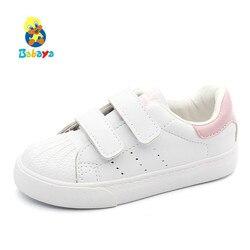 Babaya dziecięce buty małe dziewczynki obuwie białe 2019 wiosna nowe modne buty dla chłopców dziecięce buty dla dziewczynki trampki dla małego dziecka|Trampki|   -