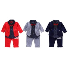цена на Children\'s Boy Spring Summer Suit Two-piece Kids Sets Baby Boy New British Wind Jacket +Pants Suit Stylish Baby Clothing Set